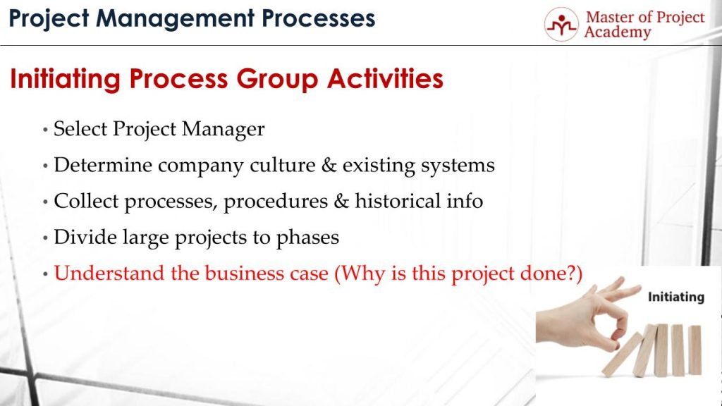 project management process group