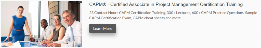 CAPM certification exam