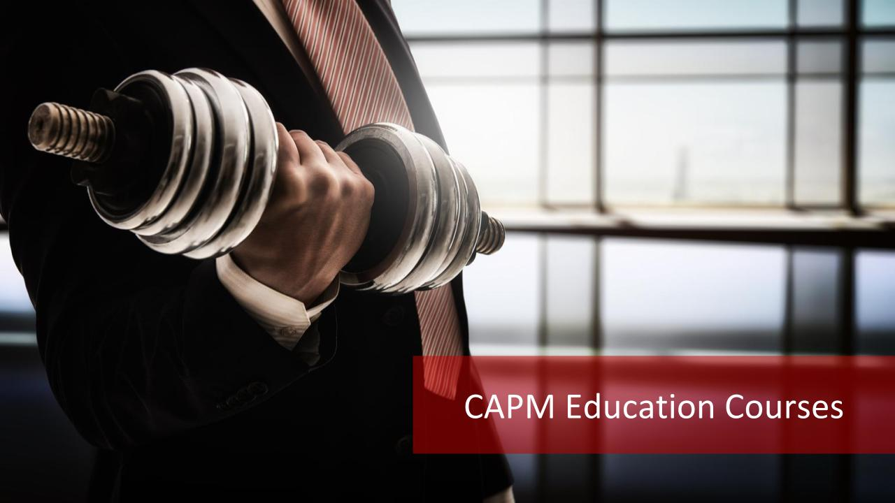 CAPM Education Courses