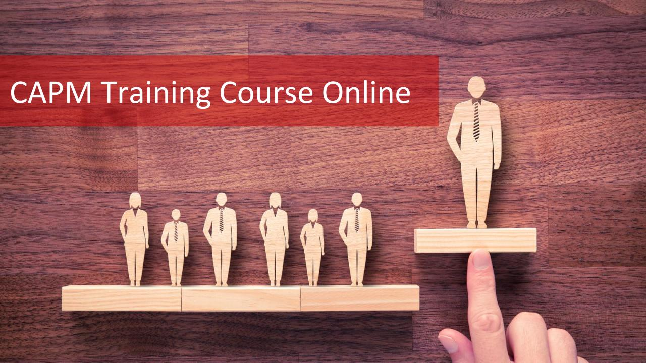 CAPM Training Course Online