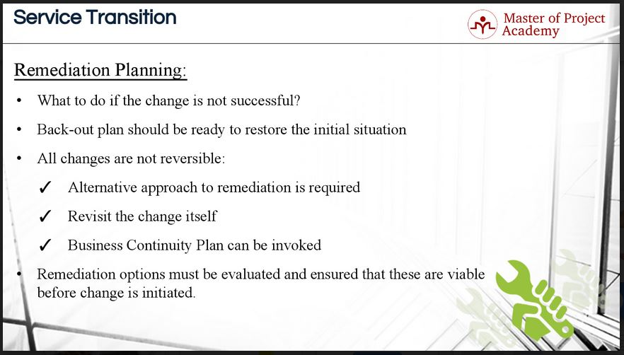 itil remediation plan