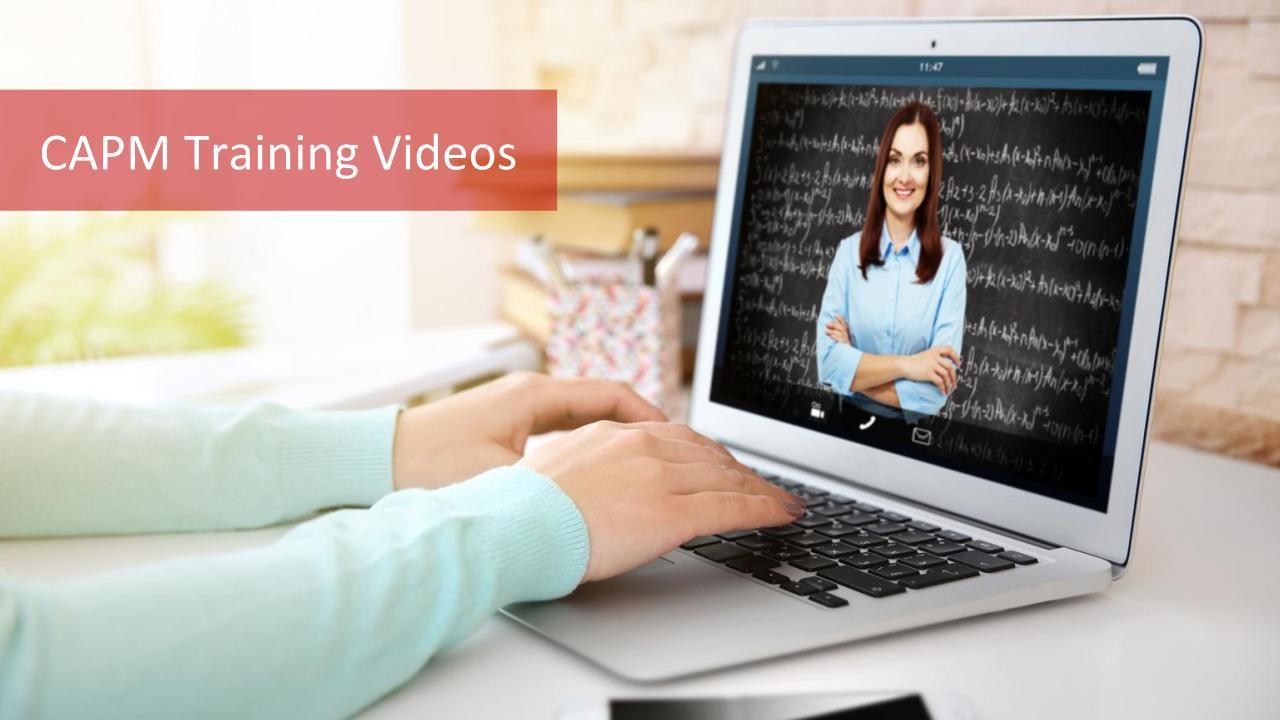 CAPM Training Videos