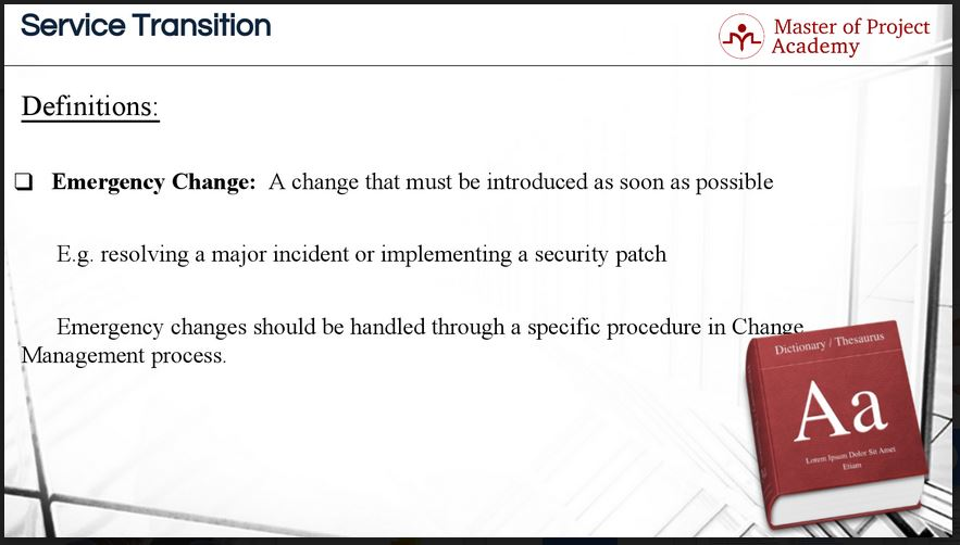 Change-emergency IT Change Management: What are the Most Important Definitions?