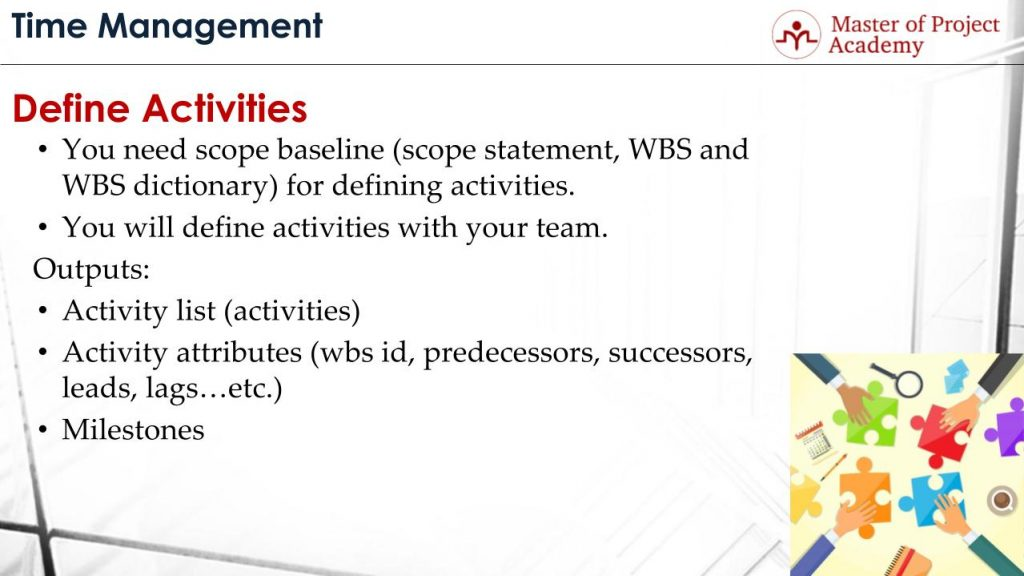 Define Activities Process