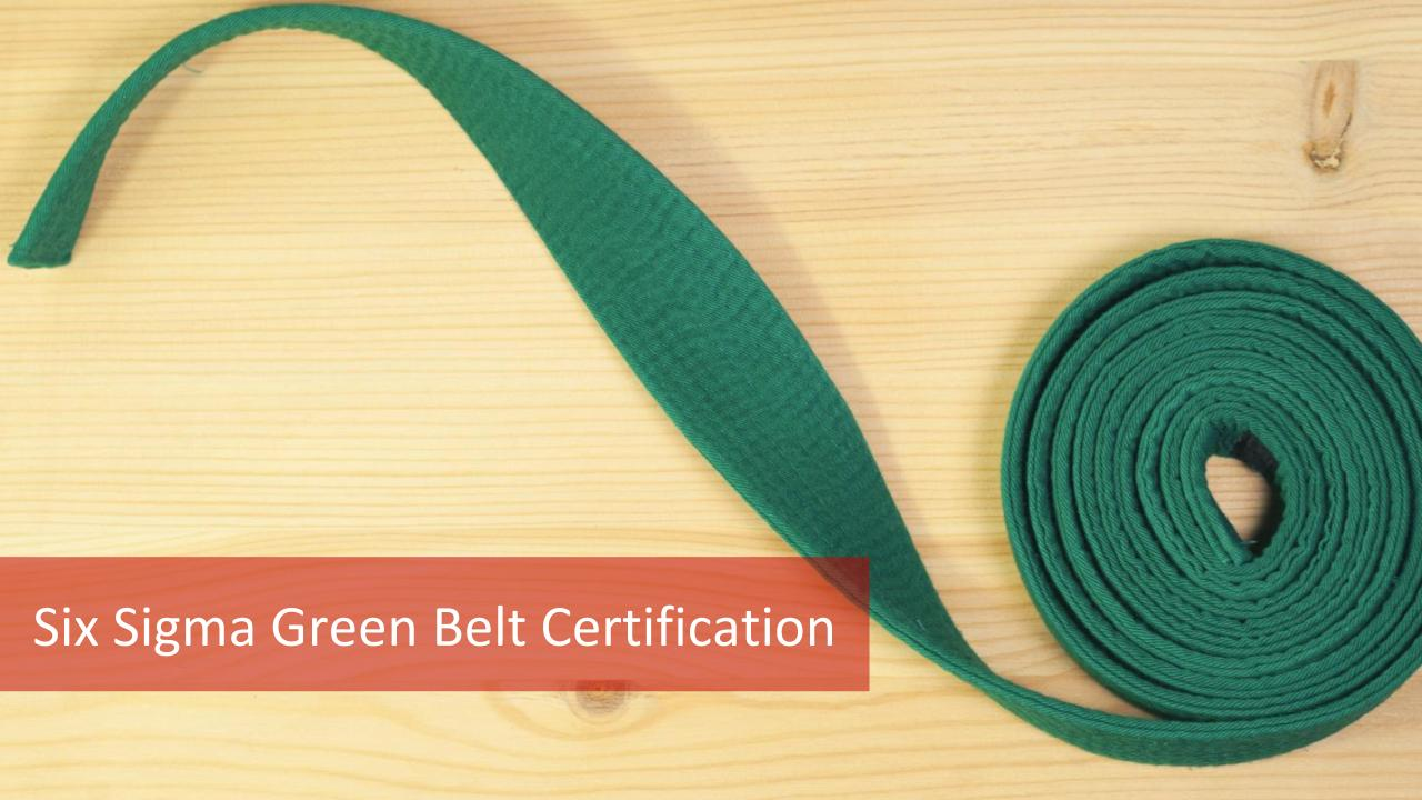 2018 Six Sigma Green Belt Certification All Aspects Of 6