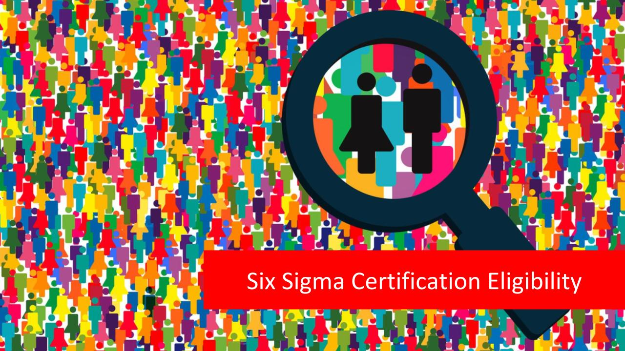 Six Sigma certification eligibility