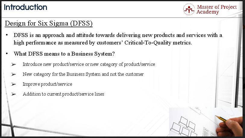 1.14-slide 3 Different Types of Design for Six Sigma (DFSS)