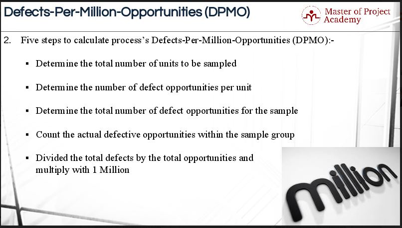 1.17-slide-2 5 Steps for Calculating Defects per Million Opportunities (DPMO)