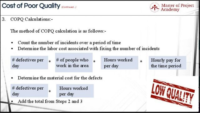 COPQ: What Does Your Inefficient Process Cost You? - Master of ...