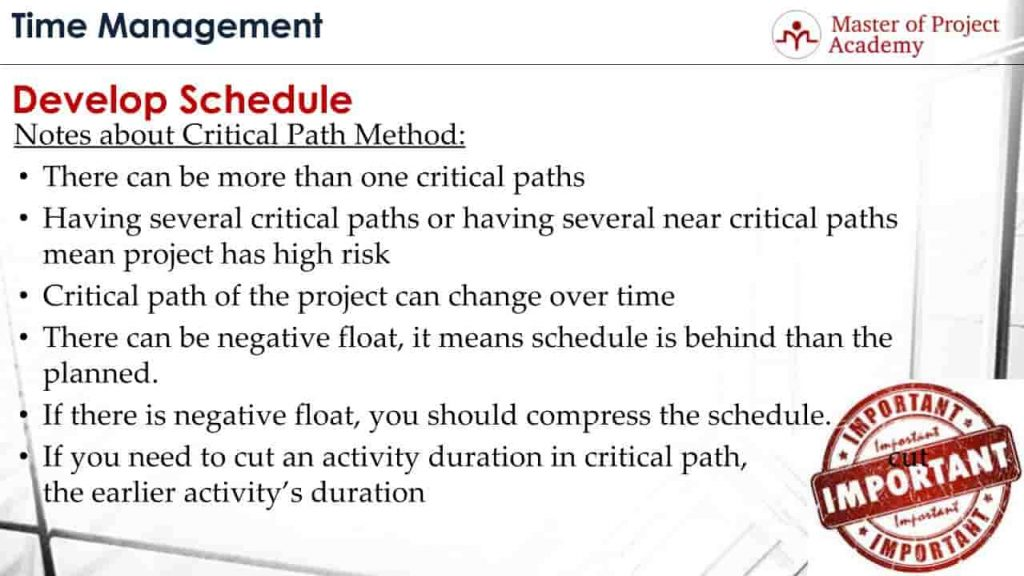 importance of critical path method