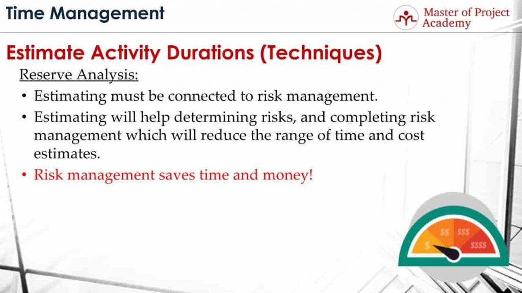 What Is The Relation Between Reserve Analysis And Risk Management