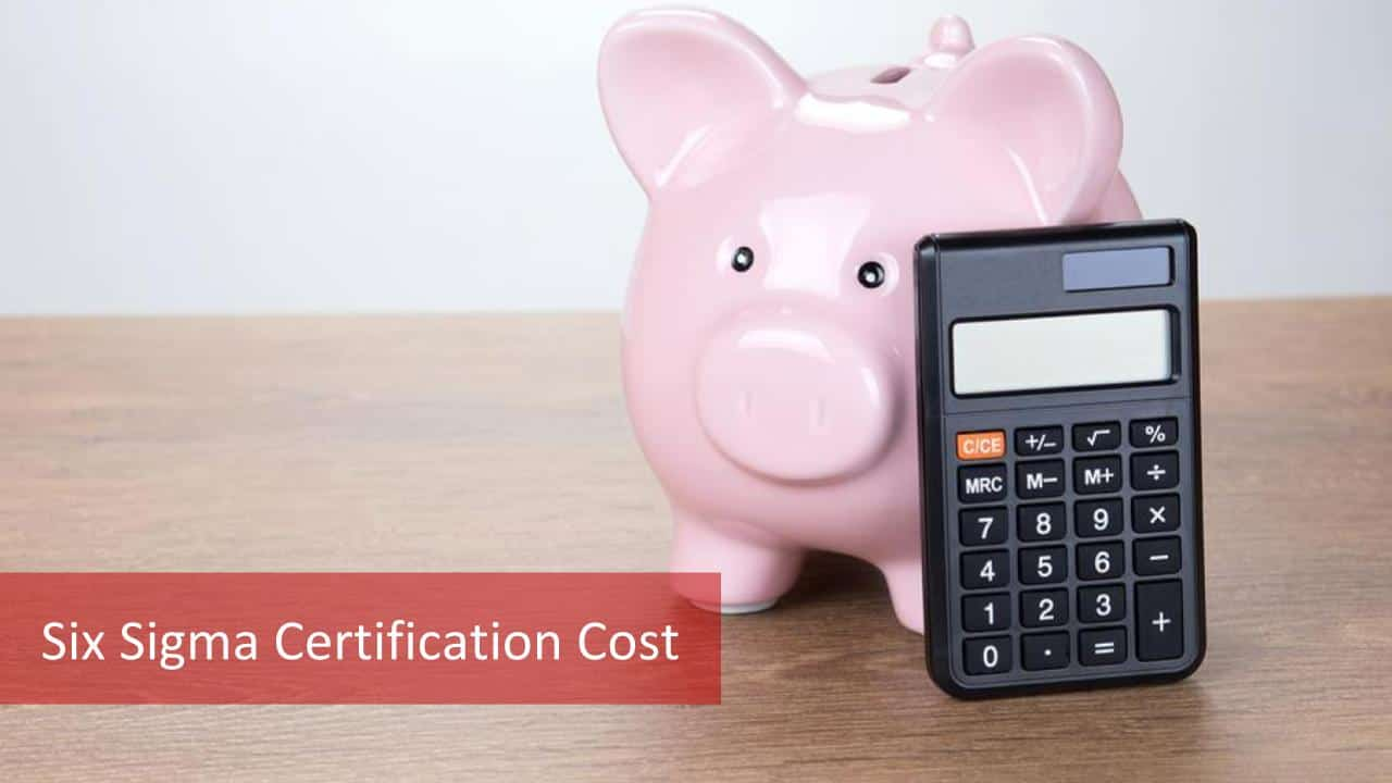 2019 Six Sigma Certification Cost Learn The Two Main Aspects Of 6 Cost