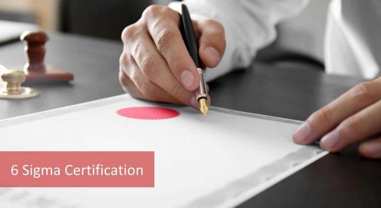 6 Sigma Certification