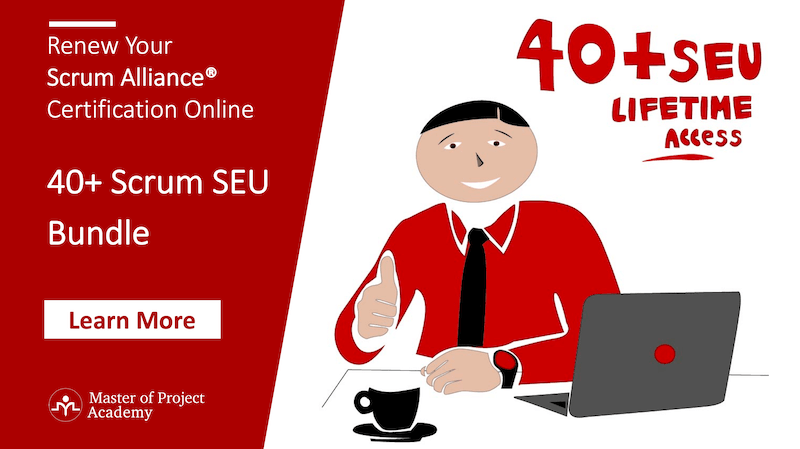 40-Scrum-Seu-Bundle Scrum SEU Guide - Renew Scrum Alliance® Cert. 100% Covered