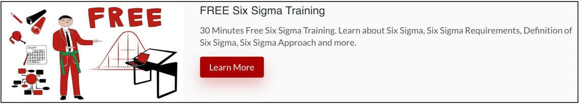 Free-Six-Sigma-Training-Banner 5 Positions Which Must Be in a Six Sigma Team